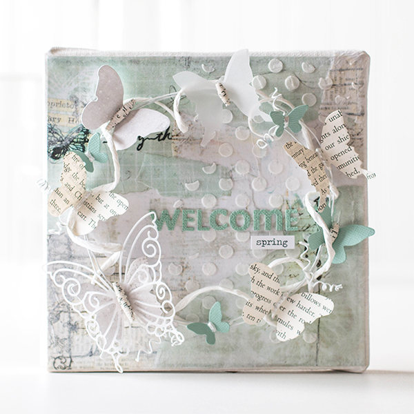Shari Carroll Welcome Spring Canvas