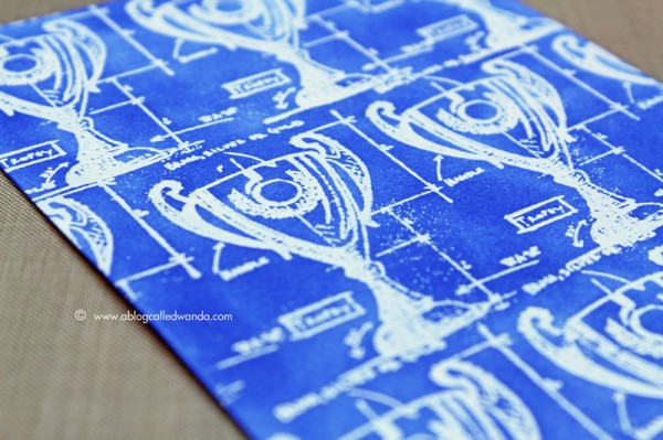 Tim holtz distress ink color pop blueprint sketch simon says since this color is the color of blueprints i decided to make my own blueprint i started by stamping the mini blueprint trophy several times with malvernweather Choice Image