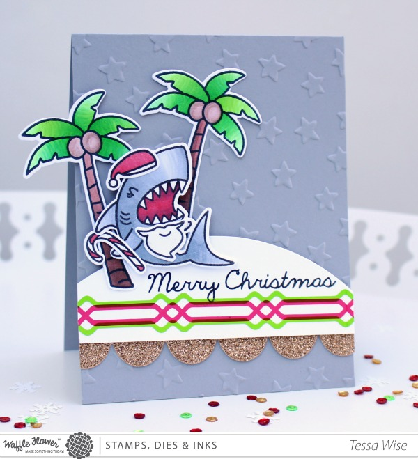 Tessa Christmas Shark Card