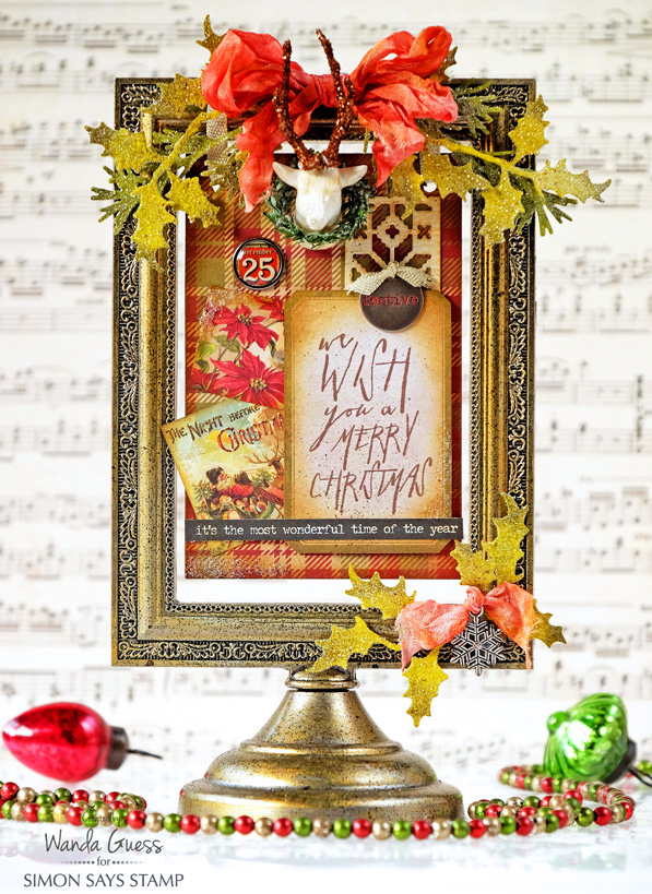 Tim Holtz Christmas Flip Frame! - Simon Says Stamp Blog