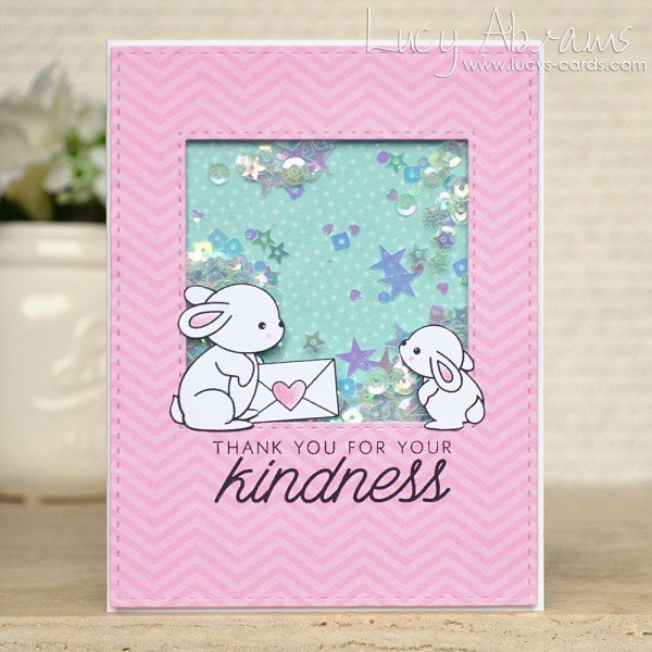 Kindness Shaker Card by Lucy Abrams for SSS
