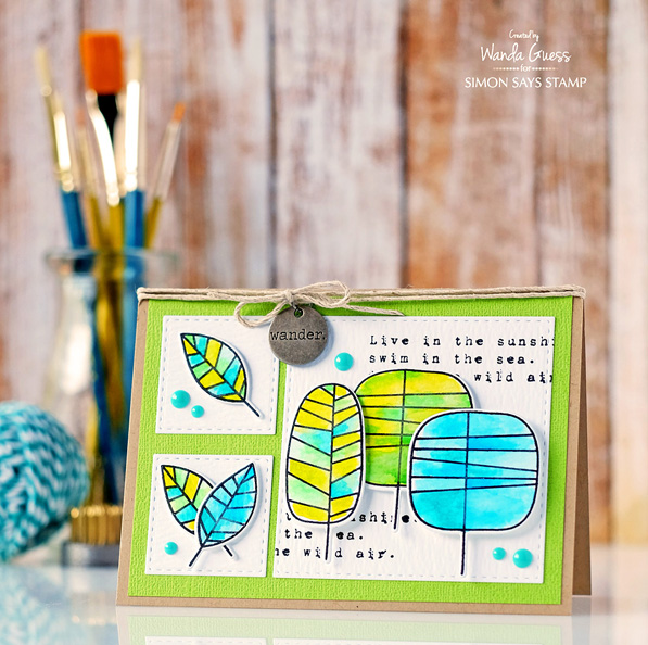 Simon Says Stamp One with Nature stamps and dies. Card by Wanda Guess for the SSS Blog. #sssfave