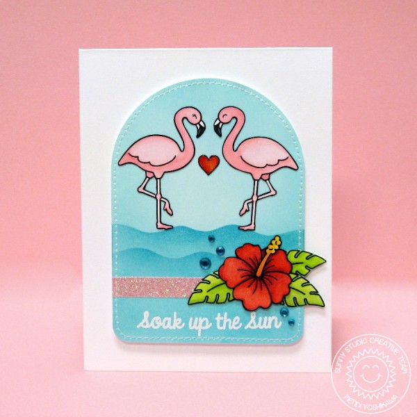 Tropical Paradise Flamingo Card-Blog1