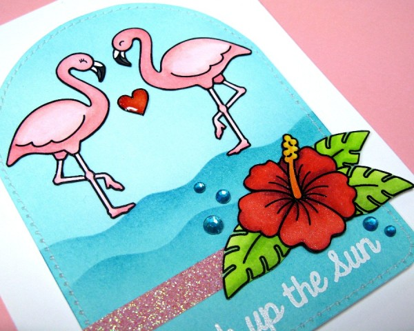 Tropical Paradise Flamingo Card-Blog2