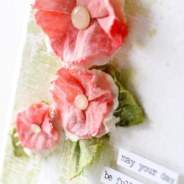Shari Carroll Fabric Flowers detail