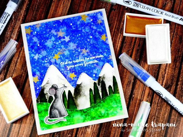 Starry Night Scene Zig Clean Color Markers_6