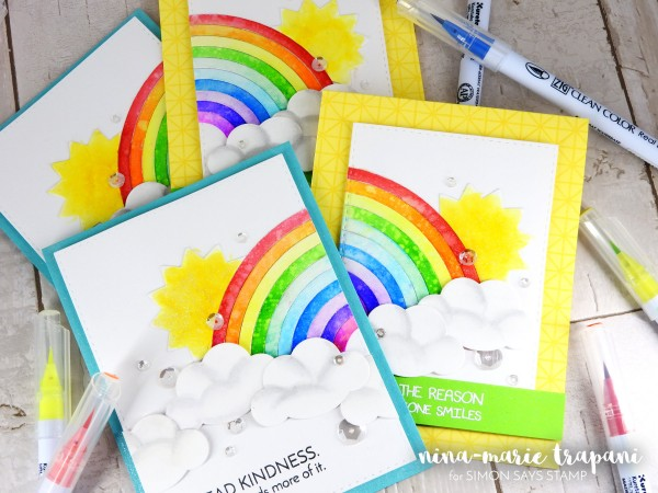 Watercolor Rainbow Card Set_3