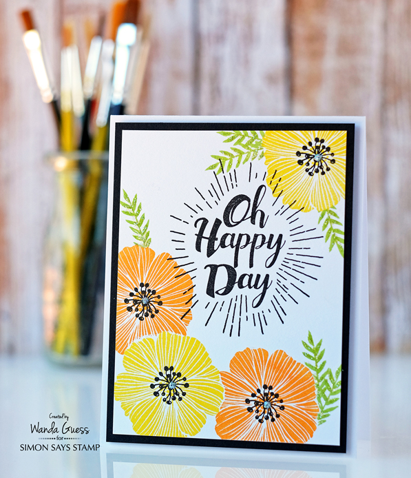 3 SSS oh happy day and lemon zing ink with orange