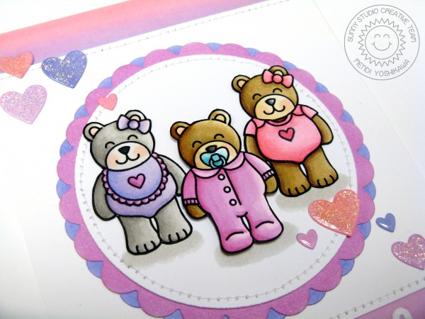 Baby Bear Pink 3 Bears Card-Blog2