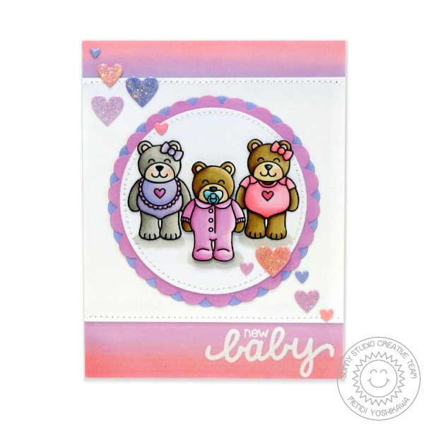 Baby Bear Pink 3 Bears Card-Instagram