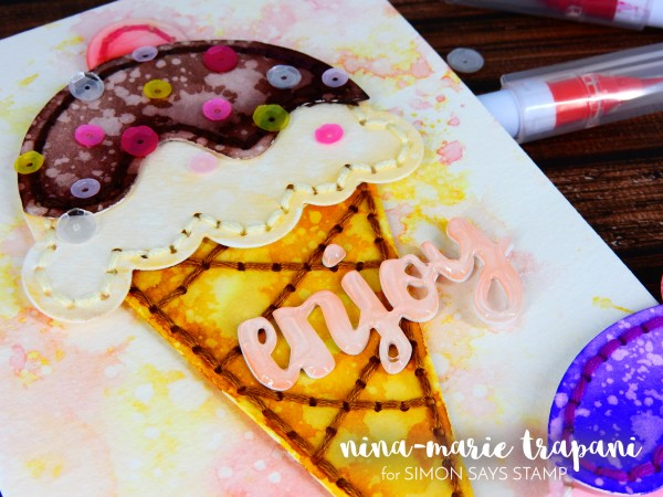 Stitched Watercolored Emellishments using Plush Dies_2