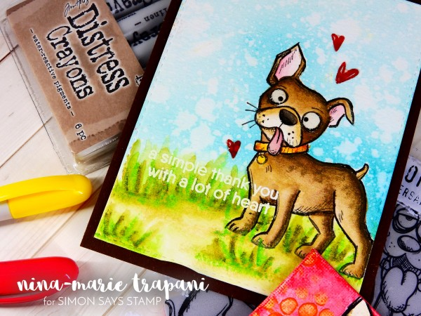 Watercoloring Images + Canvases with Distress Crayons_1