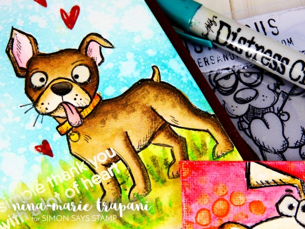 Watercoloring Images + Canvases with Distress Crayons_2