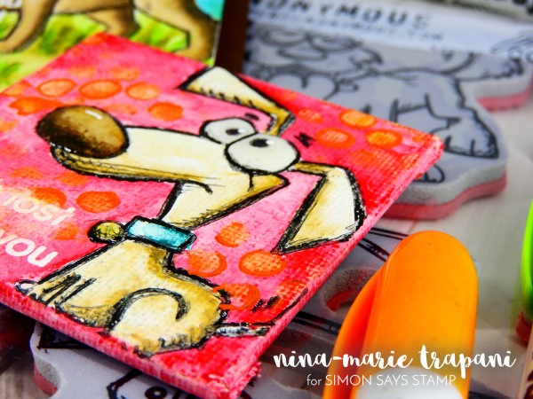 Watercoloring Stamped Images + Canvases with Distress Crayons ...