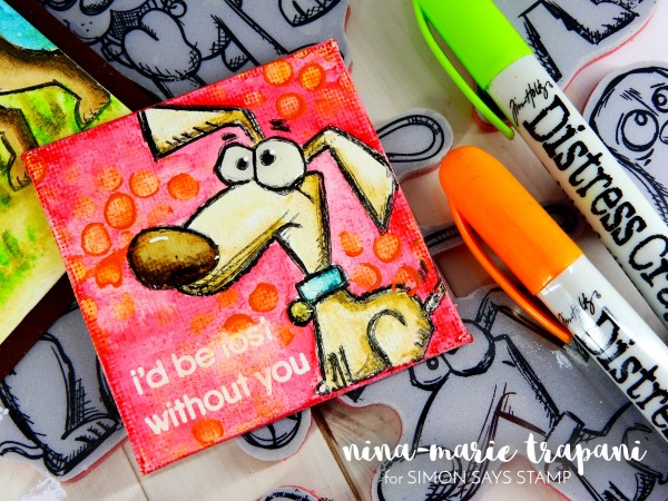 Watercoloring Images + Canvases with Distress Crayons_5