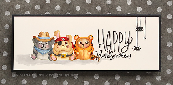 No-Line Watercoloring with Distress Inks (Critter Costume Party)