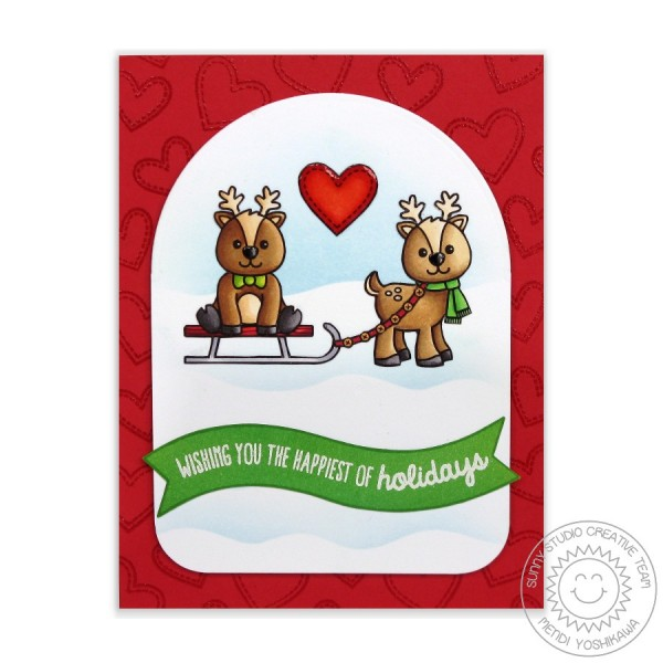 Gleeful Reindeer Heart Card-Instagram