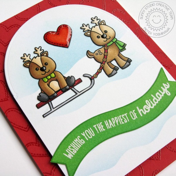 Gleeful Reindeer Heart Card-Preview