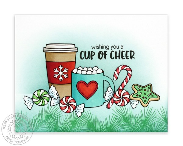 Mug Hugs Christmas Scene Card-Blog