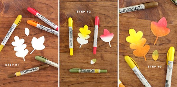 Right at Home Stamps Fall Leaves + Distress Crayons __ Guest Post for SSS