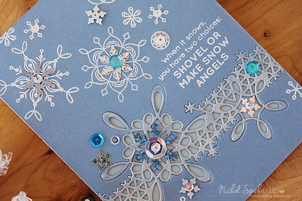 january 2017 card kit snowflake inlay border card  simon