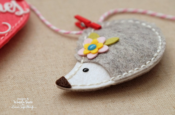 Handmade felt banner with Memory Box and Simon Says Stamp Dies