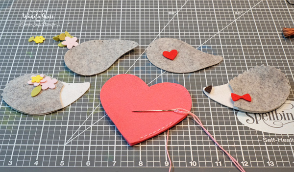 Handmade felt banner tutorial with Memory Box and Simon Says Stamp dies