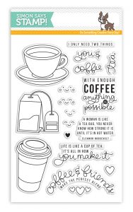 Simon Says Stamp Clear Stamp Set Coffee and Tea
