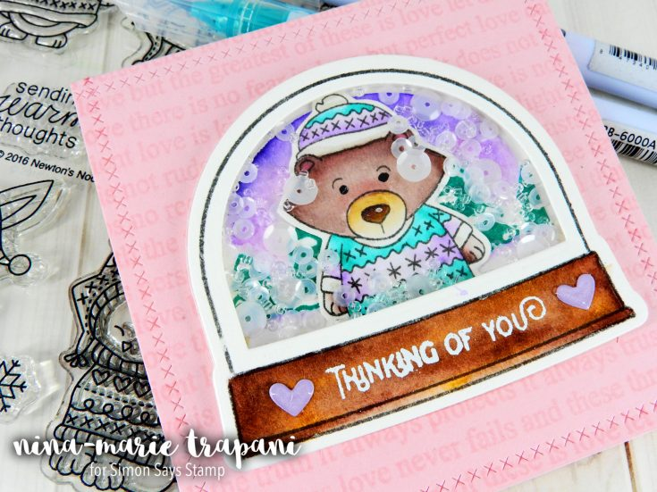 Studio Monday with Nina-Marie: Snowglobe Shaker using Newton's Nook Sweater Weather