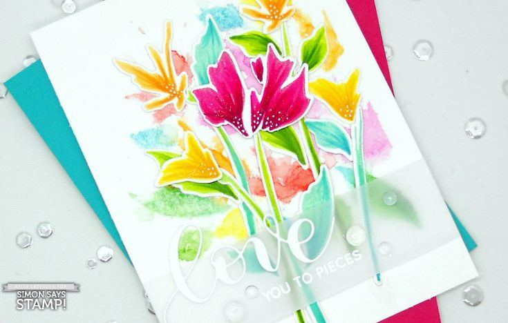 What Would Kelly Make Watercolor Stamping