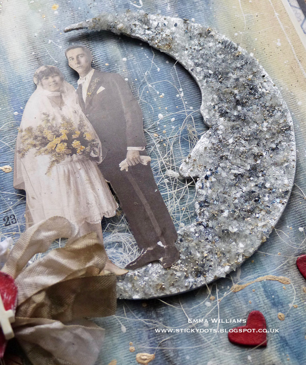 Love You To The Moon and Back Mixed Media Canvas