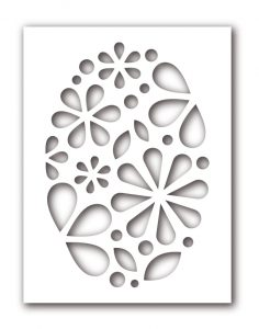 Oval of Flowers stencil