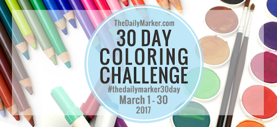 daily marker 30 day coloring challenge hop