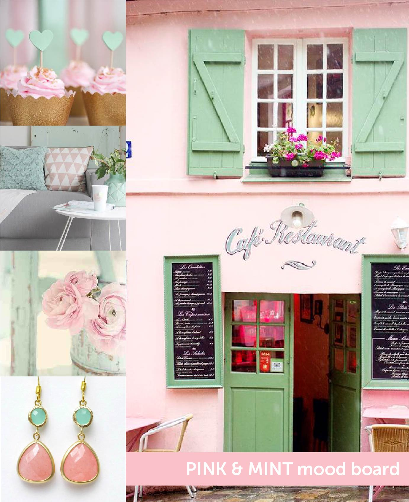 Pink & Mint Mood Board Studio Monday with Nina-Marie