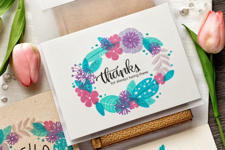 Yippee for Yana Quick Stamp Wreath Cards