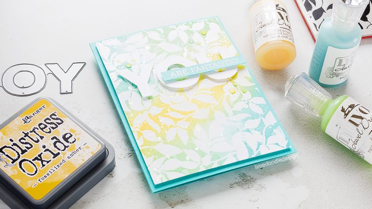 Doodling with Debby: Quick & Easy Distress Oxide Background