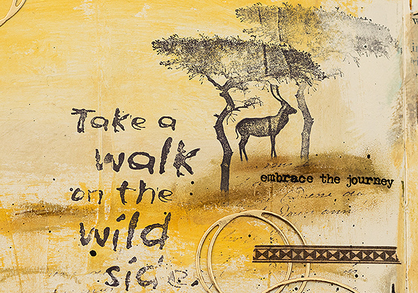 anna karin walk on the wild side journal page