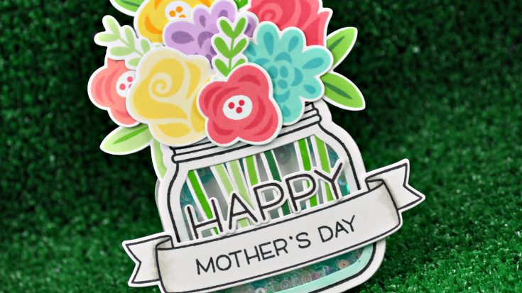 Lawn Fawn Mother's Day Shaker Card