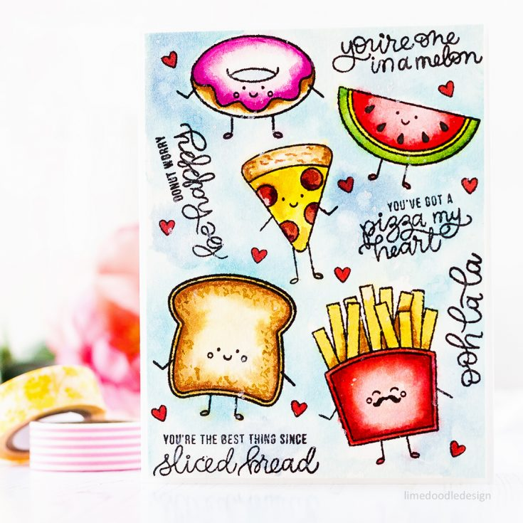 Doodling with Debby Watercoloring with Distress Inks