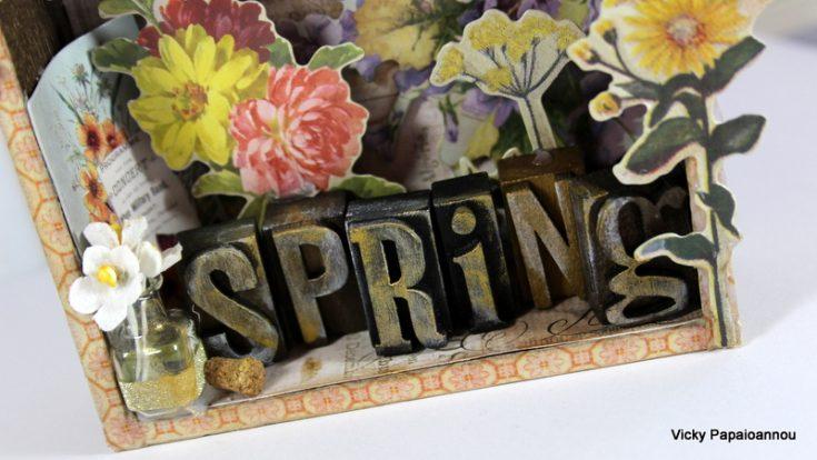 Tim Holtz Spring Vignette House