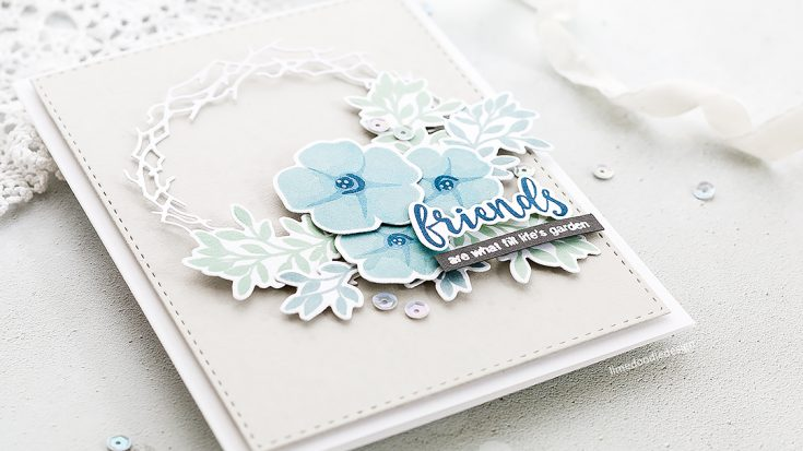 Doodling with Debby Stamped & Die Cut Wreath