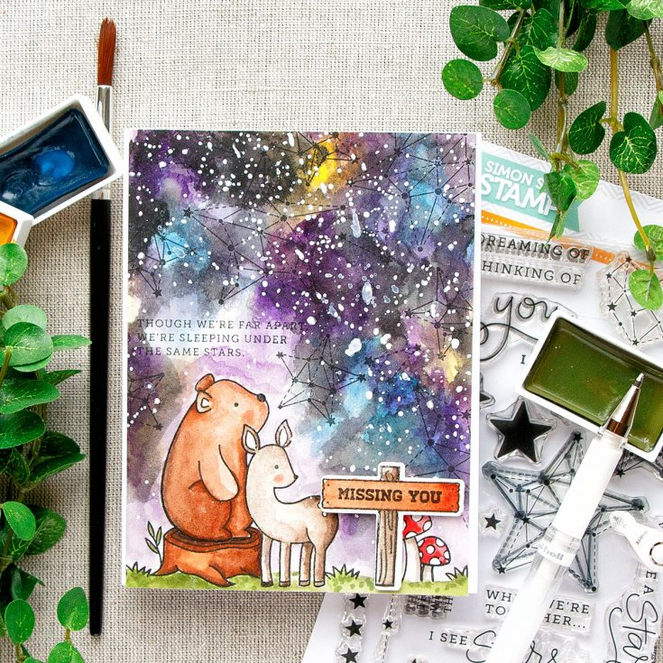 Yippee for Yana Watercolor Galaxy