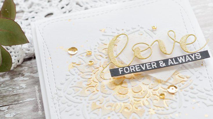 Embossing Paste Wedding Card