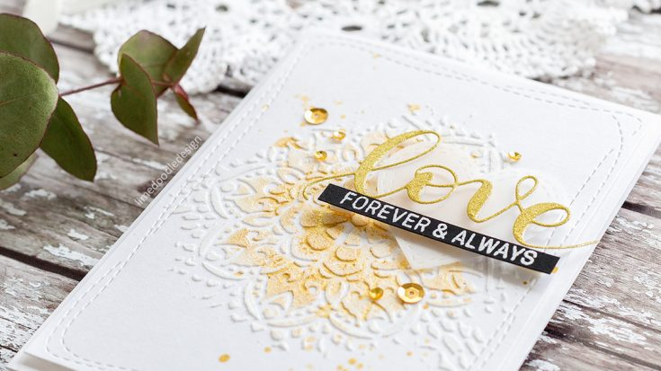 Embossing Paste Wedding Card
