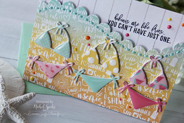 July 2017 Card Kit Dimensional Bikinis