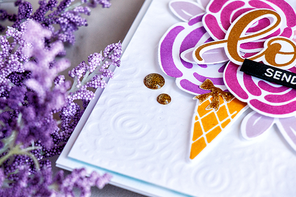 Yippee for Yana: Dry Embossing with a Stencil