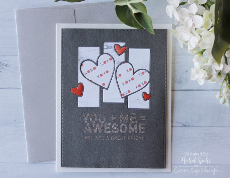 August Card Kit Hearts Alive Inlay