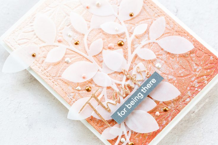 Doodling with Debby: Embossing with a Stencil