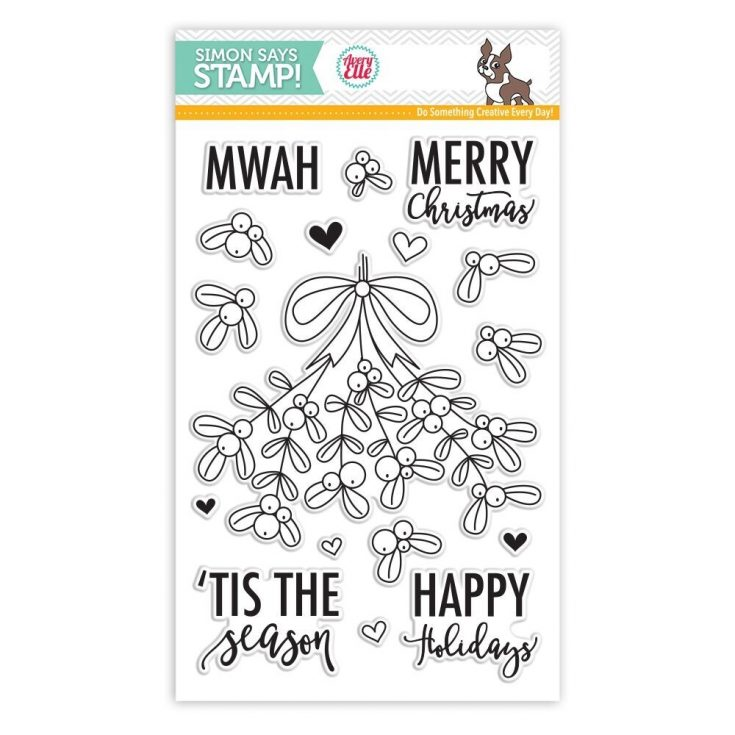 Avery Elle MERRY MISTLETOE Clear Stamps SSS101778 Stamptember Exclusive
