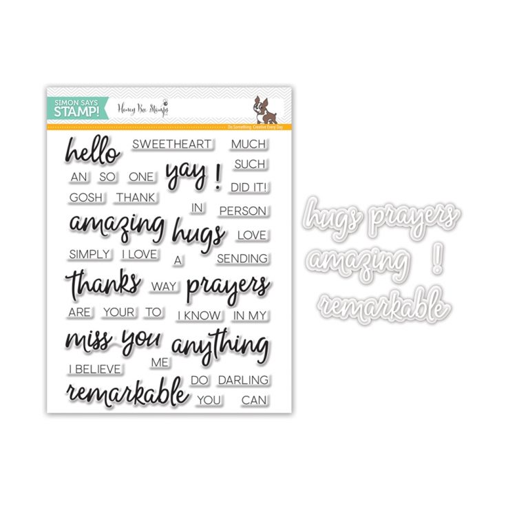 Remarkable You stamp set and dies from Honey Bee Stamps for Stamptember